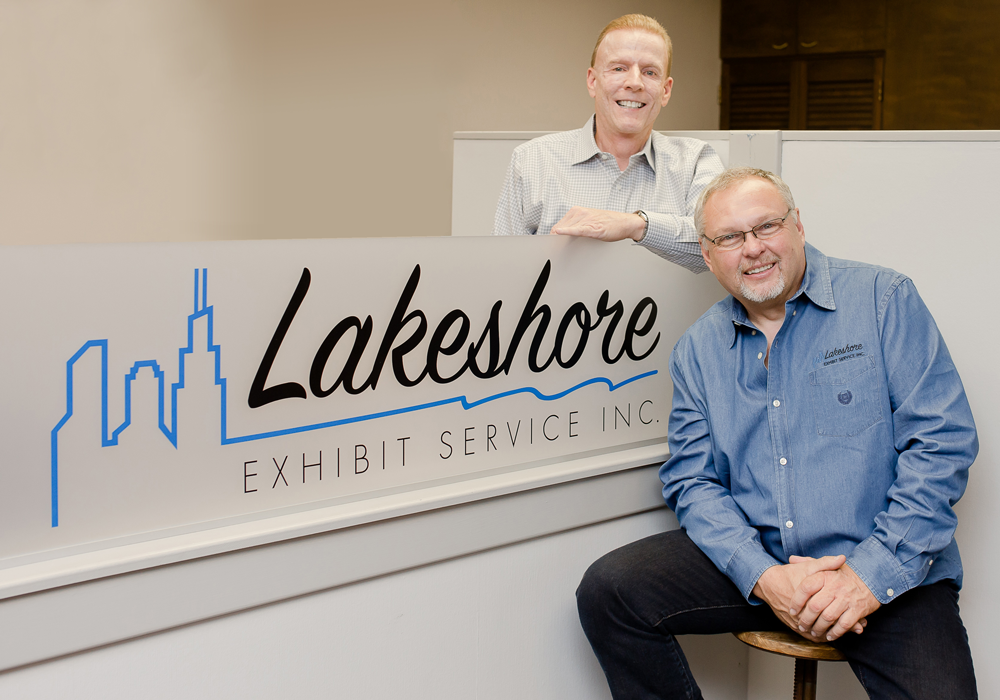 Rick Ostrowski and Larry Zuker, co-founders of Lakeshore Exhibit Service, Inc.