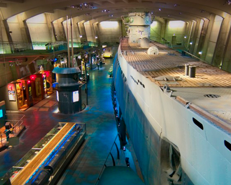 Lakeshore Exhibits constructed the historic U505 Submarine exhibit at the Museum of Science and Industry